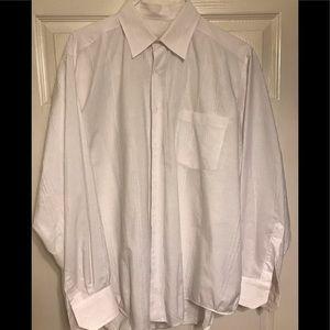 BUGATCHI Men's long sleeve button down shirt. Lg.